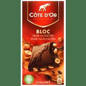 Côte d'Or Bloc chocoladereep puur hazelnoten