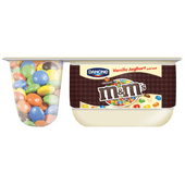 Danone M&M vanilleyoghurt