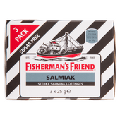 Fishermans Friend Salmiak suikervrij 3 pack