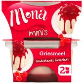 Mona Pudding griesmeel met rode bessensaus 2 stuks