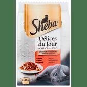 Sheba Delices du jour traiteur selectie in saus 6 stuks