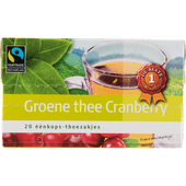 1 de Beste Groene thee cranberry
