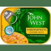 John West Sardinefilets zonder graat in zonnebloemolie