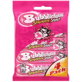Bubblicous Kauwgom strawberry 4 stuks