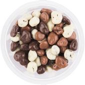 Chocolade rozijnen groot melk puur en wit