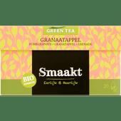 Smaakt Groene thee biologisch granaatappel