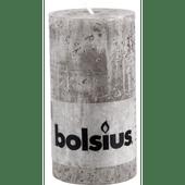 Bolsius Kaars rustiek taupe 13 cm