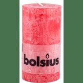 Bolsius Kaars rustiek rood 13 cm