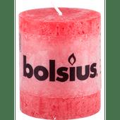 Bolsius Kaars rustiek rood 8 cm