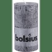 Bolsius Kaars rustiek antraciet 13 cm