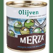 Merza Olijven gevuld met ansjovis