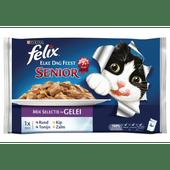 Felix Elke dag feest senior vlees en vis in gelei 4 stuks