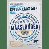 Maaslander 50+ geitenkaas plakken