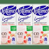 Optimel Drinkyoghurt aardbei framboos