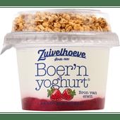 Zuivelhoeve Boer'n yoghurt muesli aardbei