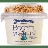 Zuivelhoeve Boer'n yoghurt muesli naturel