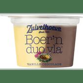 Zuivelhoeve Boer'n Duo vla vanille chocolade