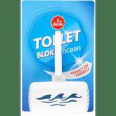 1 de Beste Toiletblok met houder aqua