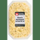 Oma's aardappel  scharrelei salade