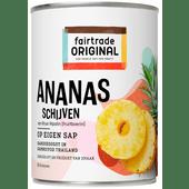 Fairtrade Ananas schijven op eigen sap
