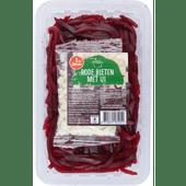 1 de Beste Rode bieten met ui gesneden