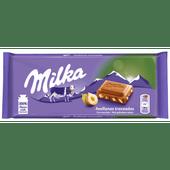 Milka Chocoladereep gebroken noten