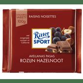 Ritter Sport Melkchocolade rozijn hazelnoot