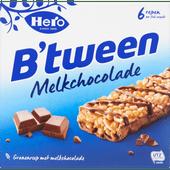 Hero B'tween melk chocolade repen 6 stuks