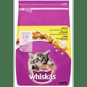 Whiskas Kattenvoer junior kip-melk 2-12 maanden