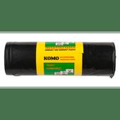 Komo Vuilniszakken met trekband, 15 stuks a 60 liter