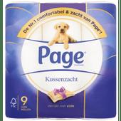 Page Toiletpapier 9 rollen kussenzacht