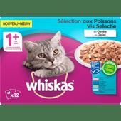 Whiskas Kattenvoer vis selectie 1+ jaar 12 stuks