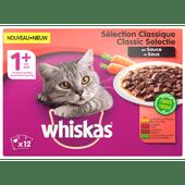 Whiskas Kattenvoer classic selectie groenten in saus 12 stuks