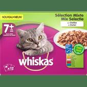 Whiskas Kattenvoer mix selectie in gelei 7+ jaar