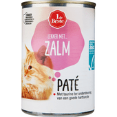 1 de Beste Kattenvoer paté zalm