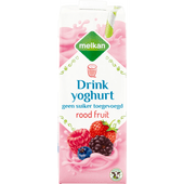 Melkan Drinkyoghurt rood fruit