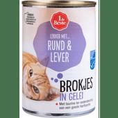 1 de Beste Kattenvoer rund-lever in gelei