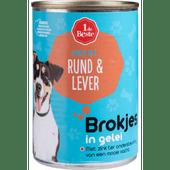 1 de Beste Hondenvoer kalf-lever in gelei