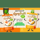 Servero Slurpfruit 100% fruit familypack 12 stuks
