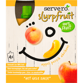 Servero Slurpfruit appel perzik abrikoos 4 stuks
