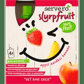 Servero Slurpfruit appel aardbei banaan 4 stuks