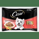Cesar Hondenvoer maaltijdzakjes in saus