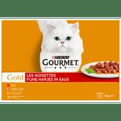 Gourmet Gold fijne hapjes in saus 12 stuks