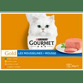 Gourmet Gold mousse konijn-kip-zalm-niertjes