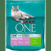 Purina One Kattenvoer sensitive kalkoen & rijst