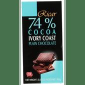 Ricar Chocoladereep 74% cacao