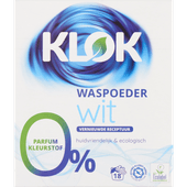 Klok Poeder wasmiddel wit 18 wasbeurten