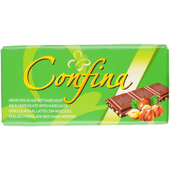 Confina Chocoladereep melk & hazelnoot