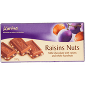 Karina Melkchocoladereep met krenten & noten