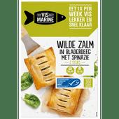 Vis Marine Zalm in bladerdeeg met spinazie